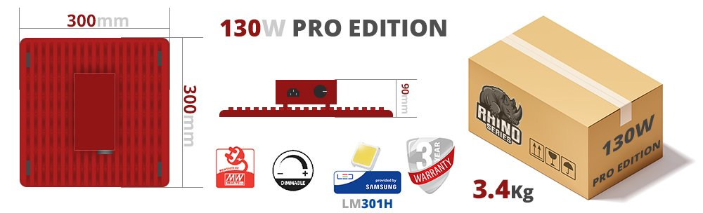 rhino pro 130 taille