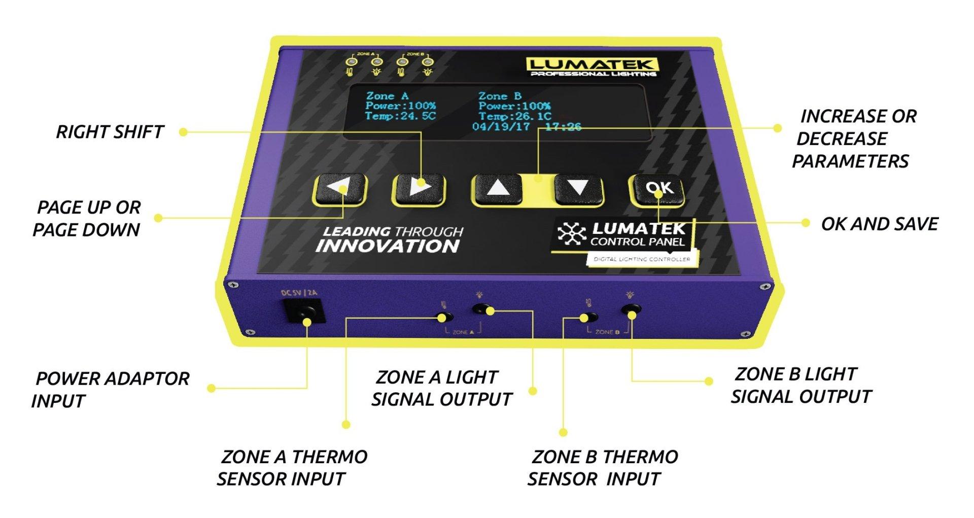 lumatek control panel